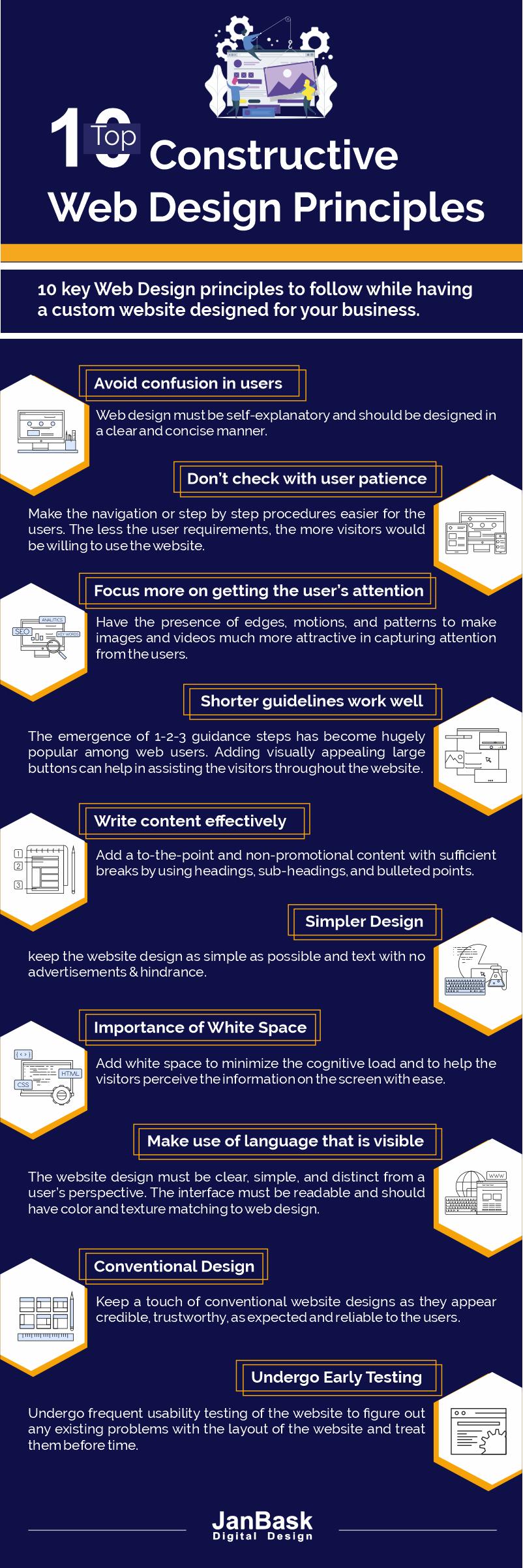Top 10 Constructive Web Design Principles Janbask Digital Design Blog