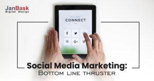 social media marketing bottom line thrust