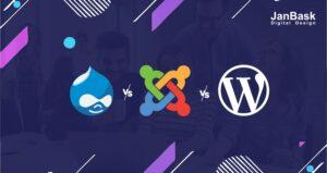 drupal vs zoomla vs wordpress