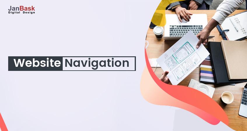 Website Navigation Design Example