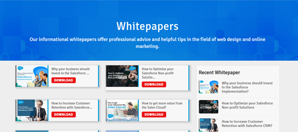 Never Forget to include some Free Offers, Blogs or White Papers