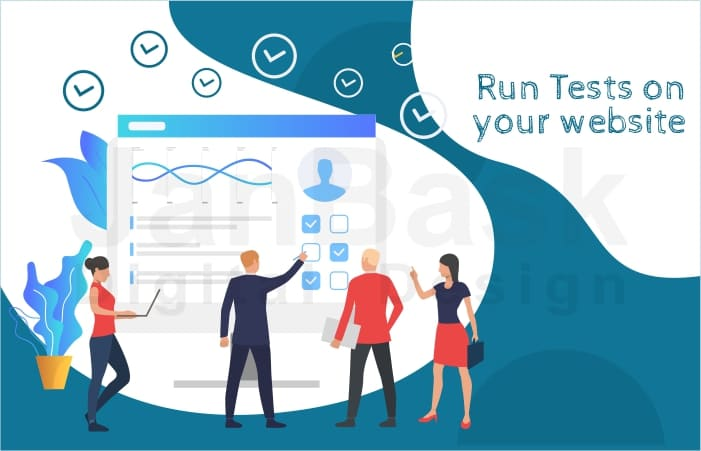 Run test on your website