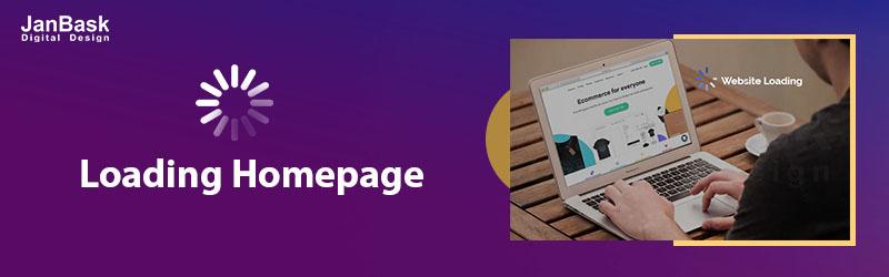 loading homepage