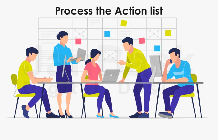 process the action list