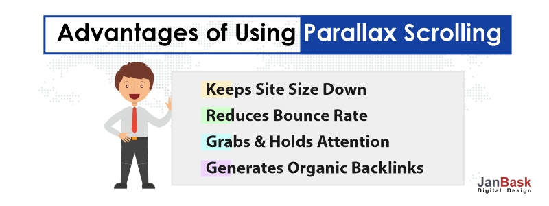 Parallax Scrolling advantages