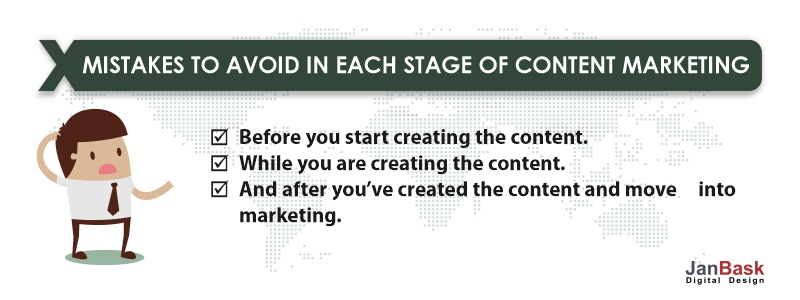 mistakes to avoid content marketing