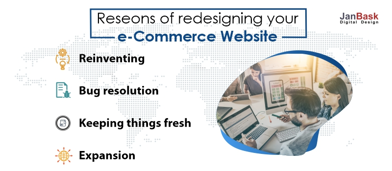 reasons eCommerce website redesigning