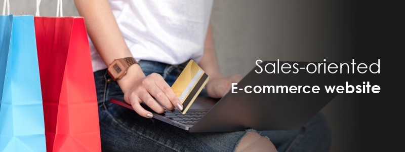 sales oriented ecommerce website