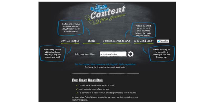Portent's Content Idea