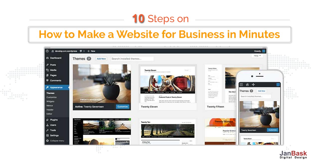 10 Steps on How to Make a Website for Business in Minutes